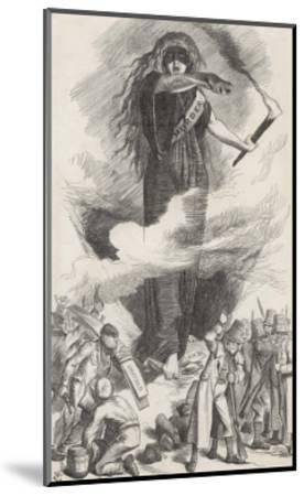 Unions and Fenians Menace Society-John Tenniel-Mounted Giclee Print