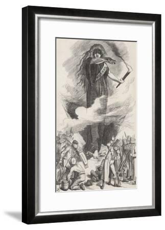 Unions and Fenians Menace Society-John Tenniel-Framed Giclee Print