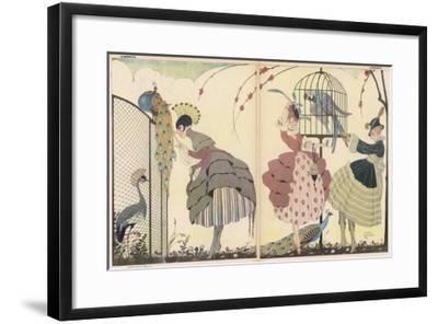 "Satire on the Current ""Peacock"" Modes-Gerda Wegener-Framed Giclee Print"
