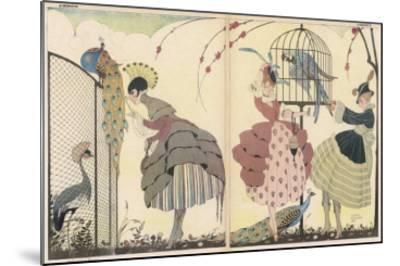 "Satire on the Current ""Peacock"" Modes-Gerda Wegener-Mounted Giclee Print"