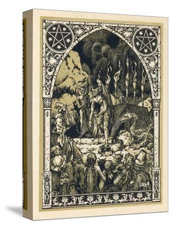 Child Offered to Satan-Bernard Zuber-Stretched Canvas Print