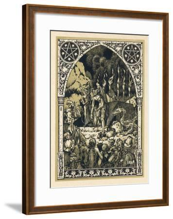 Child Offered to Satan-Bernard Zuber-Framed Giclee Print
