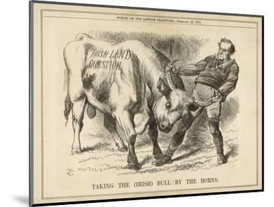 William Gladstone Taking the (Irish) Bull by the Horns-John Tenniel-Mounted Giclee Print