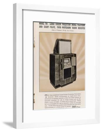 Marconi's Large Screen Projection Model Has So Big a Picture--Framed Giclee Print