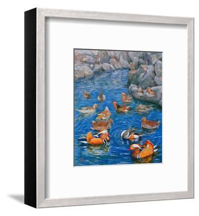 Mandarin Ducks-Komi Chen-Framed Premium Giclee Print