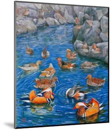 Mandarin Ducks-Komi Chen-Mounted Giclee Print