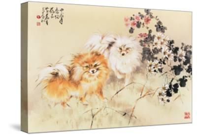 Cute Dogs-Wong Luisang-Stretched Canvas Print