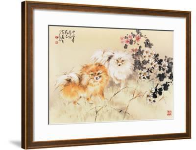 Cute Dogs-Wong Luisang-Framed Giclee Print