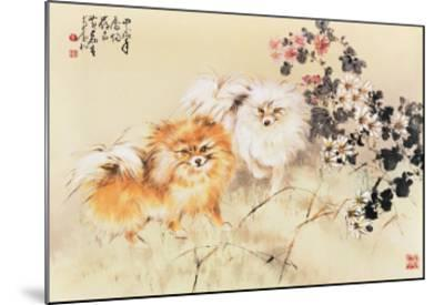 Cute Dogs-Wong Luisang-Mounted Giclee Print