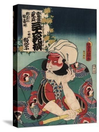 Kobayashi in the Role of Asahina-Toyokuni Utagawa-Stretched Canvas Print