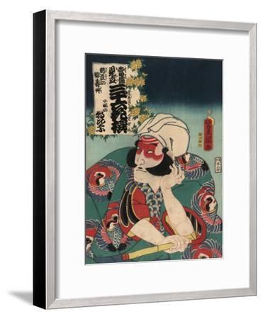 Kobayashi in the Role of Asahina-Toyokuni Utagawa-Framed Art Print