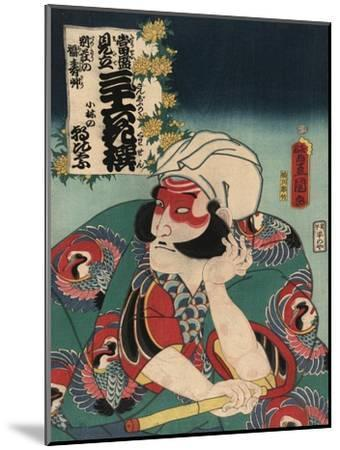 Kobayashi in the Role of Asahina-Toyokuni Utagawa-Mounted Art Print
