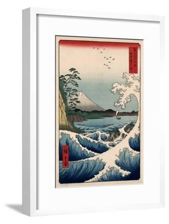 View from Satta Suruga-Ando Hiroshige-Framed Art Print