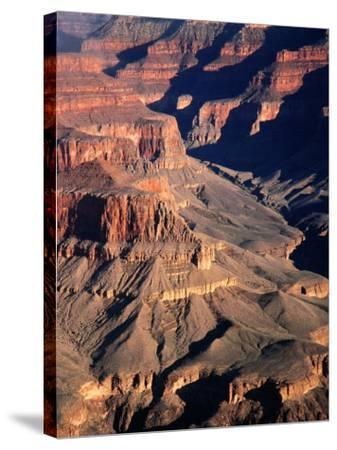 Overhead of South Rim of Canyon, Grand Canyon National Park, U.S.A.-Mark Newman-Stretched Canvas Print