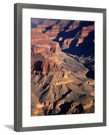 Overhead of South Rim of Canyon, Grand Canyon National Park, U.S.A.-Mark Newman-Framed Photographic Print