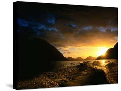 Sunrise Over Lake Manapouri, Fiordland National Park, Southland, New Zealand-Gareth McCormack-Stretched Canvas Print