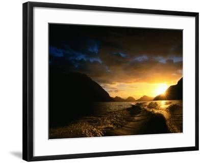 Sunrise Over Lake Manapouri, Fiordland National Park, Southland, New Zealand-Gareth McCormack-Framed Photographic Print