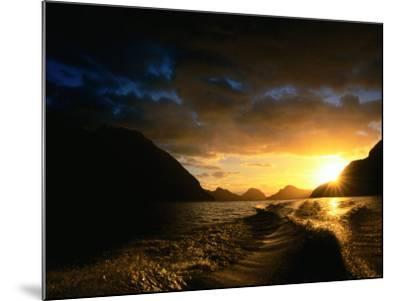 Sunrise Over Lake Manapouri, Fiordland National Park, Southland, New Zealand-Gareth McCormack-Mounted Photographic Print