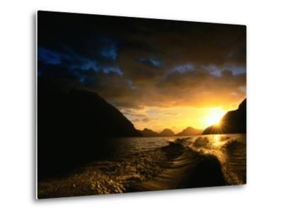 Sunrise Over Lake Manapouri, Fiordland National Park, Southland, New Zealand-Gareth McCormack-Metal Print