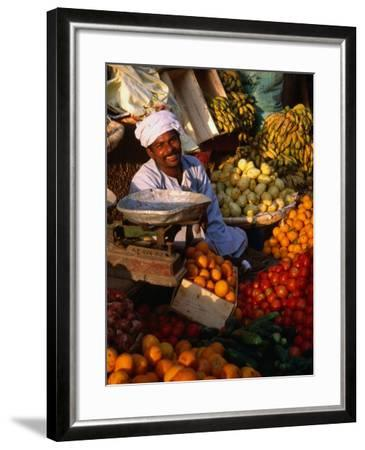 Fruit and Vegetable Vendor in the Luxor Souq, Luxor, Egypt Photographic  Print by Patrick Syder | Art com