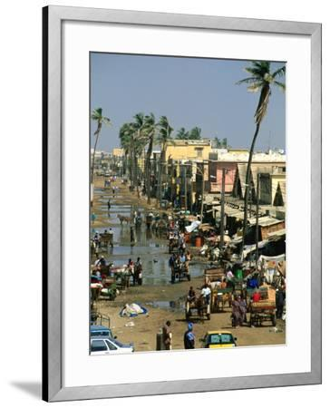 People Going About Their Business in Street, St. Louis, Senegal-Frances Linzee Gordon-Framed Photographic Print