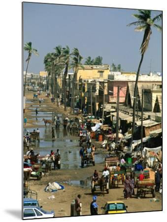 People Going About Their Business in Street, St. Louis, Senegal-Frances Linzee Gordon-Mounted Photographic Print