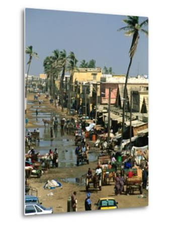 People Going About Their Business in Street, St. Louis, Senegal-Frances Linzee Gordon-Metal Print