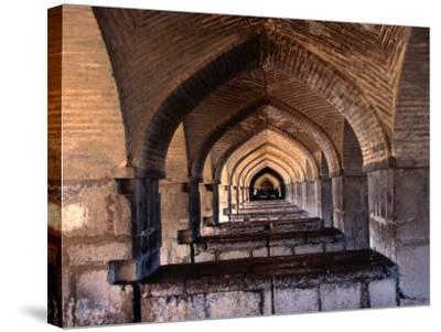 Khaju Bridge, Esfahan, Iran-John Borthwick-Stretched Canvas Print