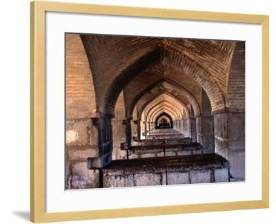 Khaju Bridge, Esfahan, Iran-John Borthwick-Framed Photographic Print