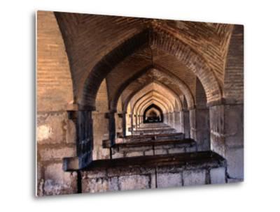 Khaju Bridge, Esfahan, Iran-John Borthwick-Metal Print