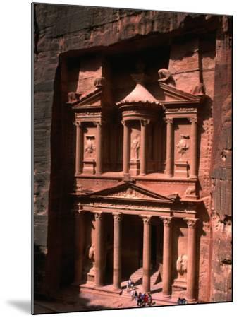 High Angle View of El Khasneh (The Treasury), Petra, Jordan-John Elk III-Mounted Photographic Print