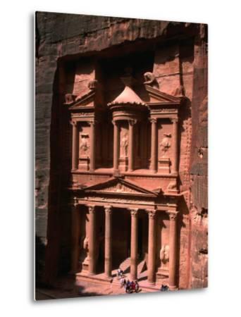 High Angle View of El Khasneh (The Treasury), Petra, Jordan-John Elk III-Metal Print