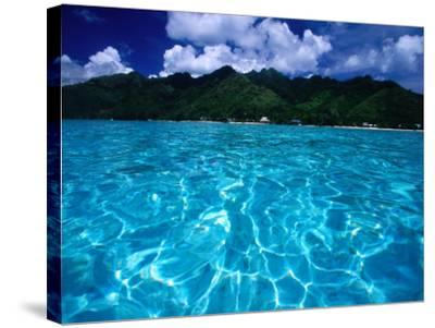 Lagoon in Haapiti, Moorea, the French Polynesia-Paul Kennedy-Stretched Canvas Print