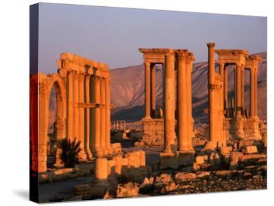 Columns of Ruins at Dawn, Palmyra, Syria-Wayne Walton-Stretched Canvas Print