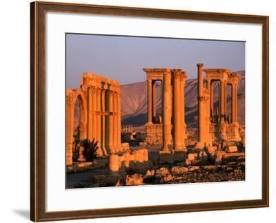 Columns of Ruins at Dawn, Palmyra, Syria-Wayne Walton-Framed Photographic Print