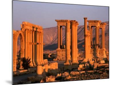Columns of Ruins at Dawn, Palmyra, Syria-Wayne Walton-Mounted Photographic Print