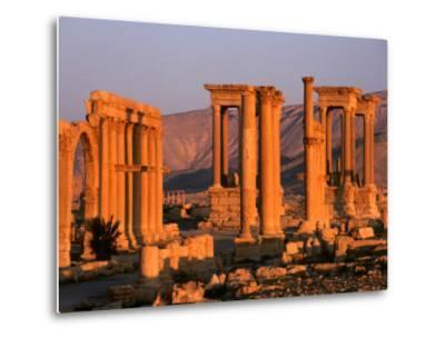 Columns of Ruins at Dawn, Palmyra, Syria-Wayne Walton-Metal Print