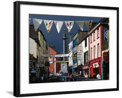 Street Decorated with Buntings and Signs, Ennis, Ireland-Wayne Walton-Framed Photographic Print