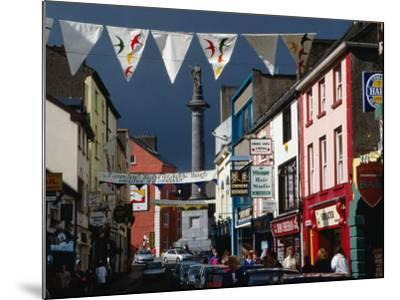 Street Decorated with Buntings and Signs, Ennis, Ireland-Wayne Walton-Mounted Photographic Print