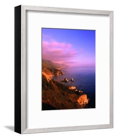 Sunset on the Big Sur Coastline, California, USA-Thomas Winz-Framed Photographic Print