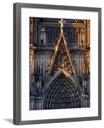 Facade of Cologne Cathedral, Cologne, Germany-Rick Gerharter-Framed Photographic Print