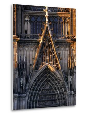 Facade of Cologne Cathedral, Cologne, Germany-Rick Gerharter-Metal Print