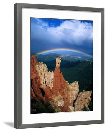 Rainbow Over Bryce Canyon, Bryce Canyon National Park, USA-Kevin Levesque-Framed Photographic Print