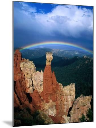 Rainbow Over Bryce Canyon, Bryce Canyon National Park, USA-Kevin Levesque-Mounted Photographic Print