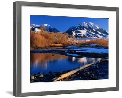 Emigrant Peak in the Absaroka Ranges, Paradise Valley, Montana, USA-Carol Polich-Framed Photographic Print