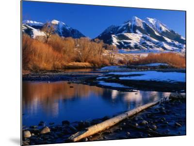 Emigrant Peak in the Absaroka Ranges, Paradise Valley, Montana, USA-Carol Polich-Mounted Photographic Print