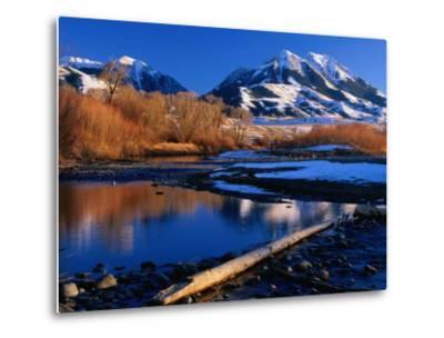 Emigrant Peak in the Absaroka Ranges, Paradise Valley, Montana, USA-Carol Polich-Metal Print