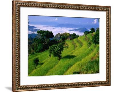 Annapurna South in the Annapurna Sanctuary, Gandaki, Nepal-Carol Polich-Framed Photographic Print