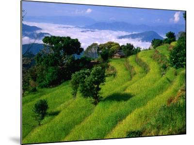Annapurna South in the Annapurna Sanctuary, Gandaki, Nepal-Carol Polich-Mounted Photographic Print