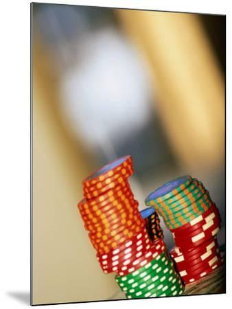 Gambling Chips and Us Currency, Las Vegas, Nevada, USA-Ray Laskowitz-Mounted Photographic Print